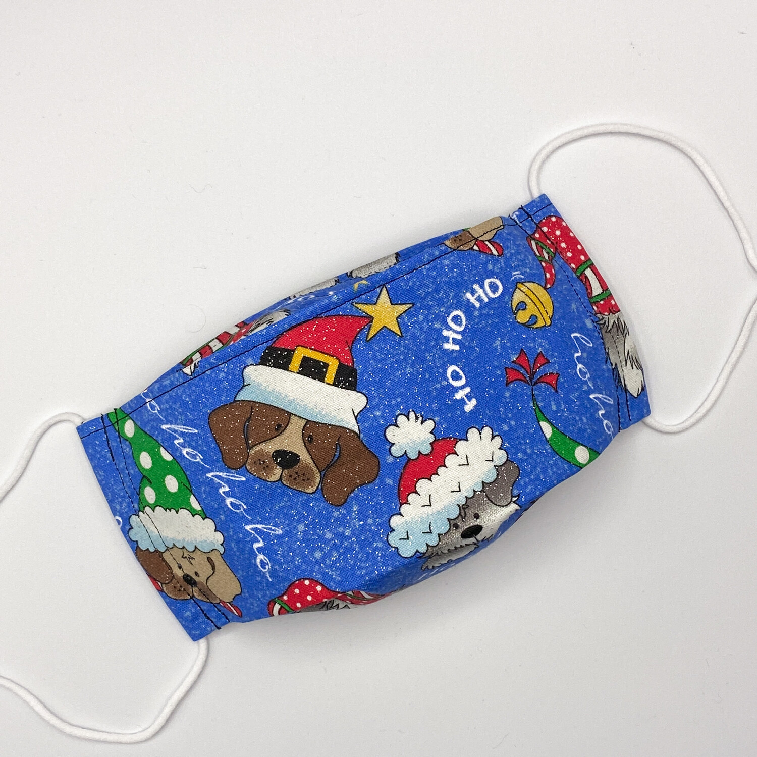 EasyFit Christmas Dogs Glitter Holiday Reusable Cloth Face Mask