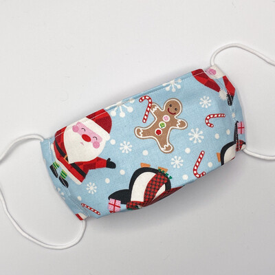 EasyFit Cute Santa and Friends Reusable Cloth Face Mask