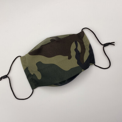 EasyFit Moss Green Leaf Camouflage Military / Hunting Reusable Cloth Face Mask