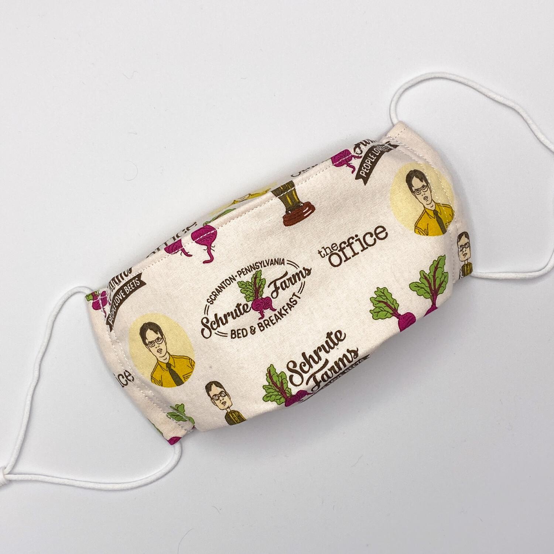 EasyFit The Office TV Show Schrute Farms Reusable Cloth Face Mask