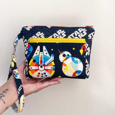 Star Wars Retro Vibe Double Zipper Clutch