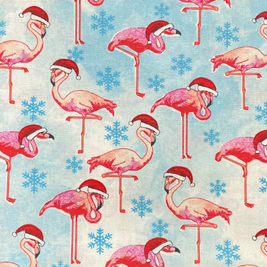 EasyFit Christmas Santa Flamingos Holiday Reusable Cloth Face Mask