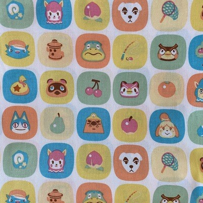 EasyFit Animal Crossing Blocks Reusable Cloth Face Mask