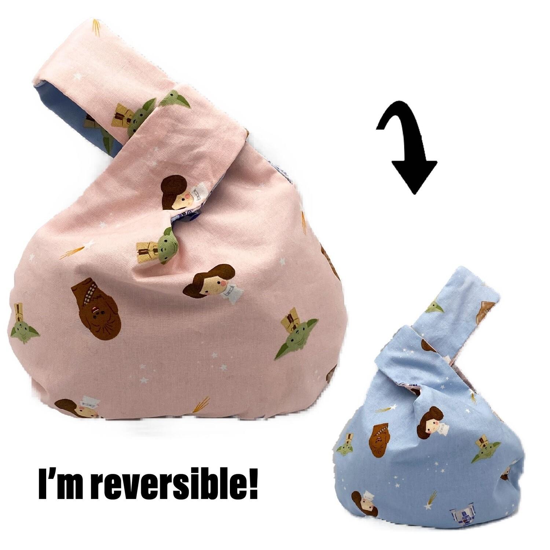 Star Wars Rebel Dreams Handmade Japanese Knot Bag Purse (Reversible - 3 sizes)