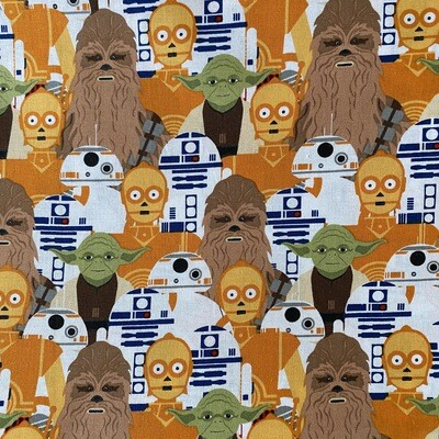 EasyFit Disney Star Wars Chewbacca Yoda R2D2 C3P0 Reusable Cloth Face Mask