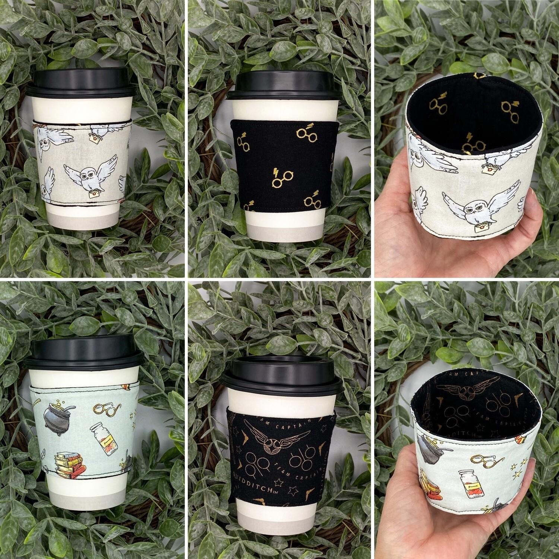 Harry Potter Tea & Coffee Sleeve, Cup Cozy, Reversible, Reusable