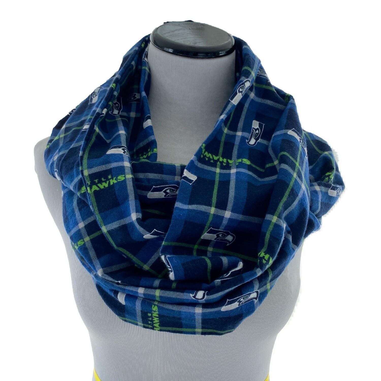 Seattle Seahawks NFL Football Cozy Flannel Infinity Scarf