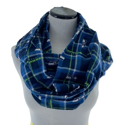 Seattle Seahawks NFL Football Cozy Flannel Infinity Scarf