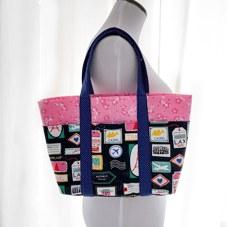 Wanderlust 7 Pocket Everyday Tote Bag - Custom Theme/Designs Available!