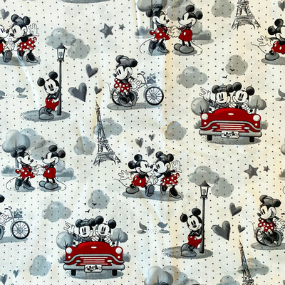 EasyFit Disney Mickey and Minnie Love in Paris Reusable Cloth Face Mask