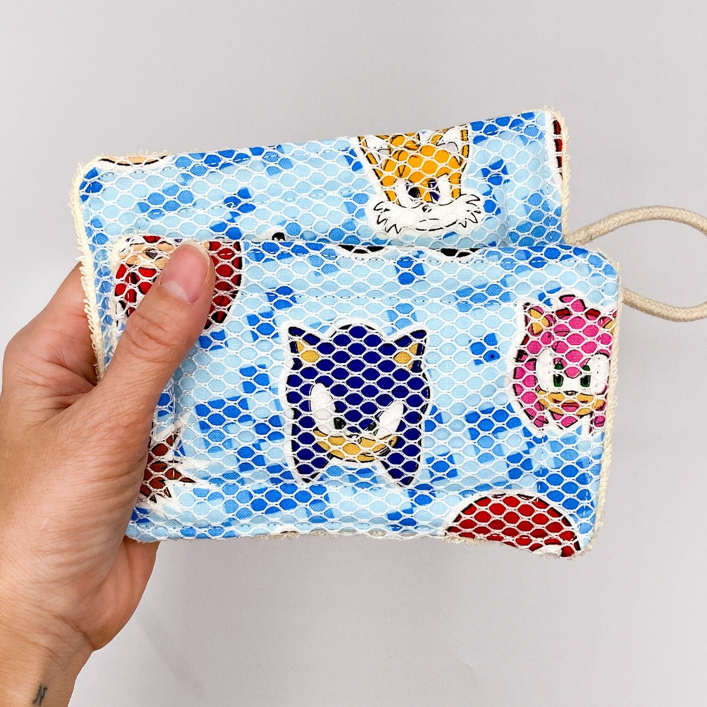 Antimicrobial Mildew Resistant Unsponge Reusable Dish Sponge | Sonic the Hedgehog | Cleaning Pad | Zero Waste