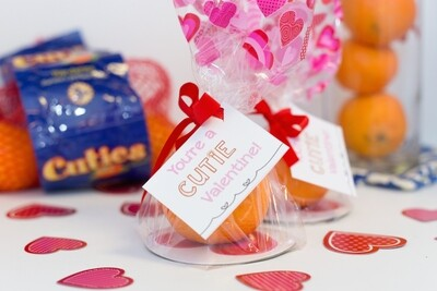 """""""You're a CUTIE Valentine!"""" Printable Tags"""