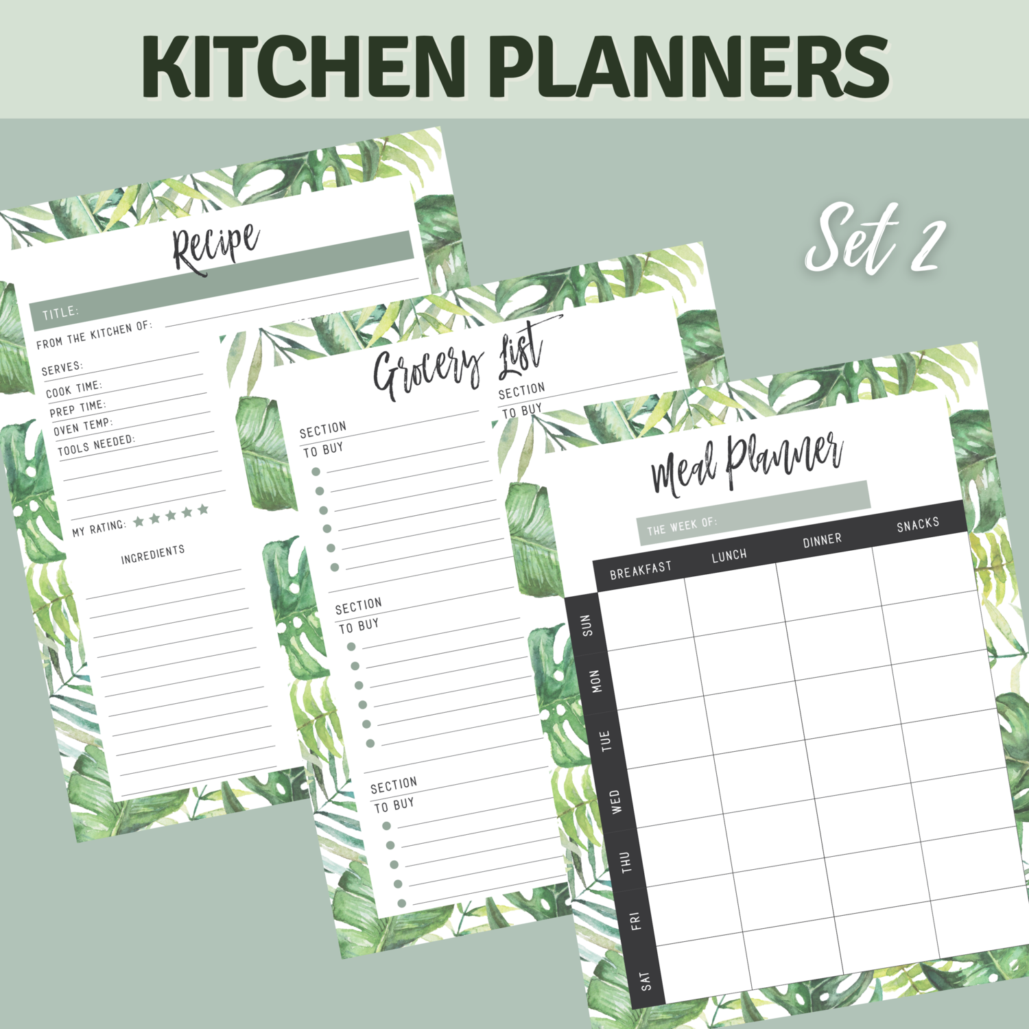 Tropical Kitchen Planner Bundle Set 2