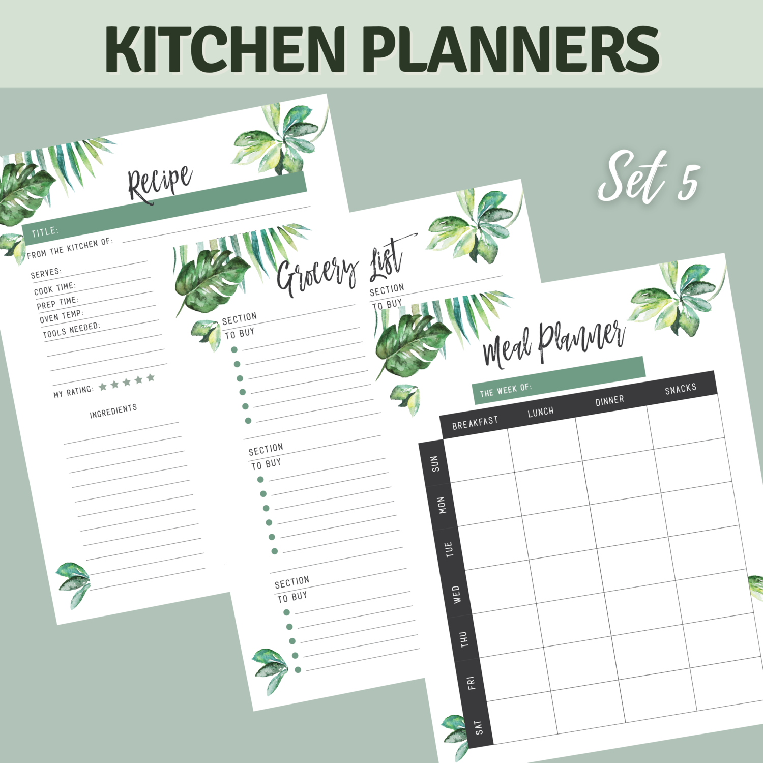 Tropical Kitchen Planner Bundle Set 5
