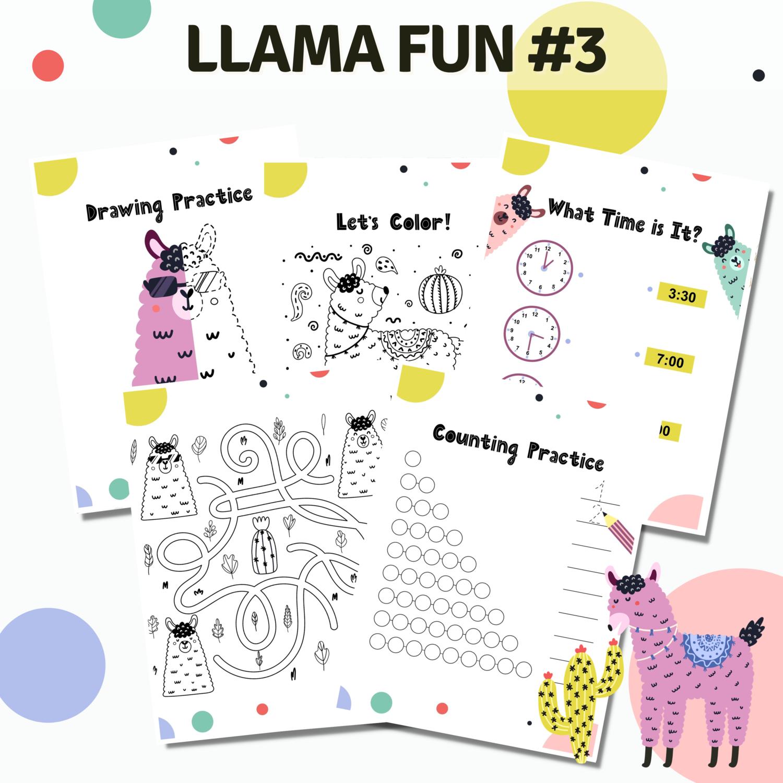 Llama Fun Activities Set 3 Circles