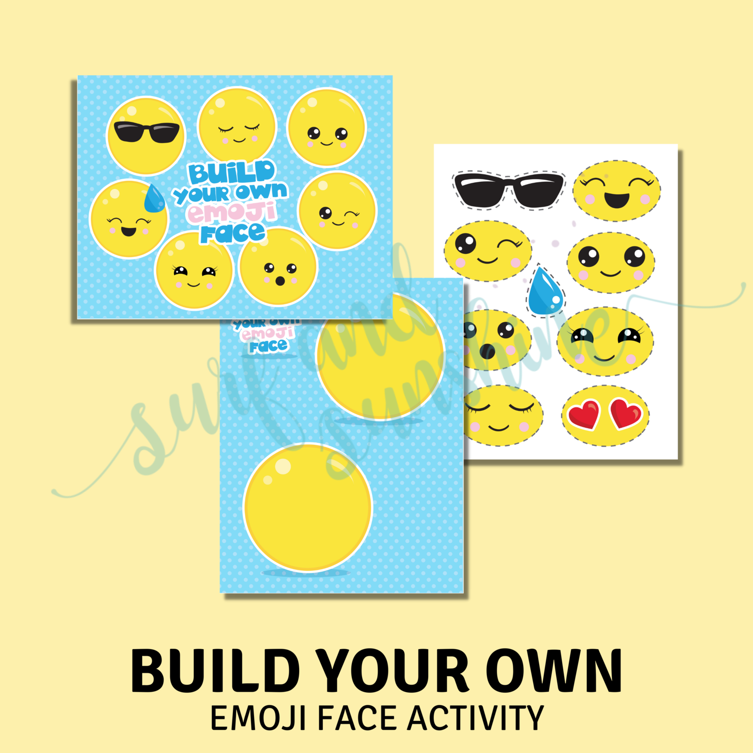 Build Your Own Emoji Face Toddler Busy Book Activity