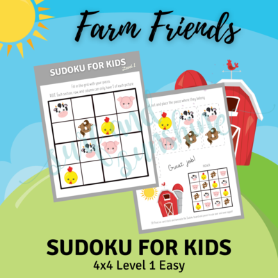 Sudoku 4x4 Farm Friends