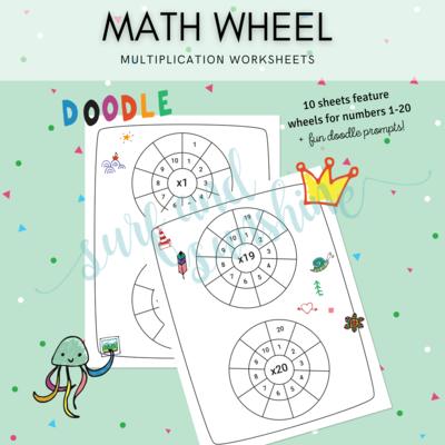 Math Wheel Multiplication Worksheets