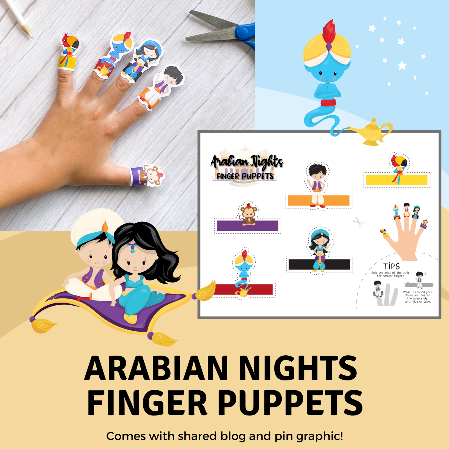 Arabian Nights Finger Puppets for Corinne