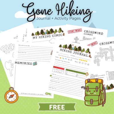 Gone Hiking Journal + Activities Bundle for Kids