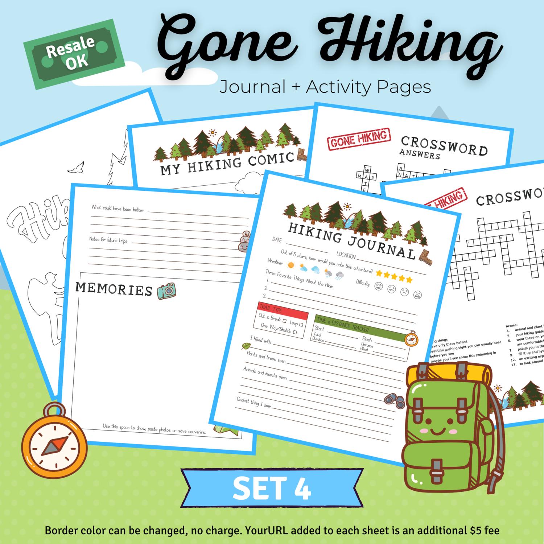 Hiking Journal & Activity Bundle Set 1 for Sara