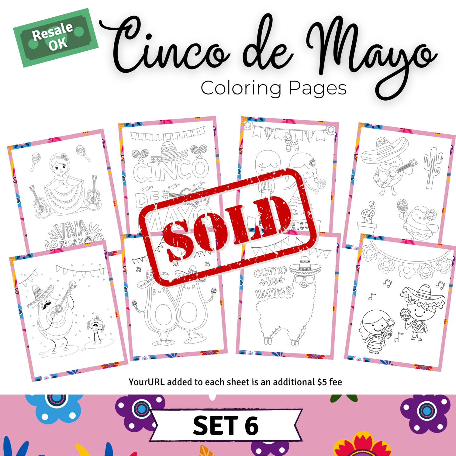 Cinco de Mayo Coloring Pages Set 6 for Mandy