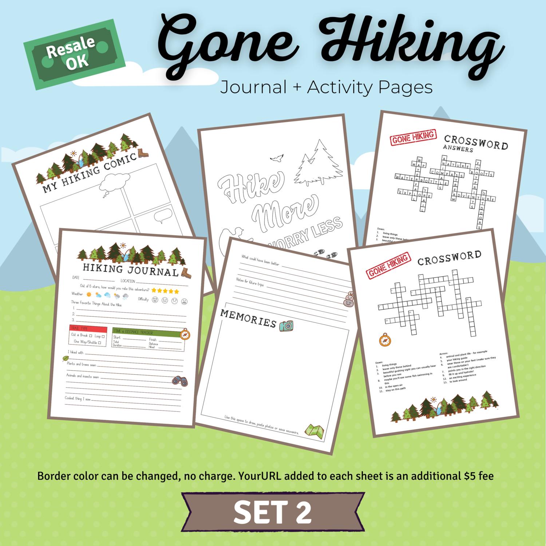 Hiking Journal & Activity Bundle Set 2 for Jenny
