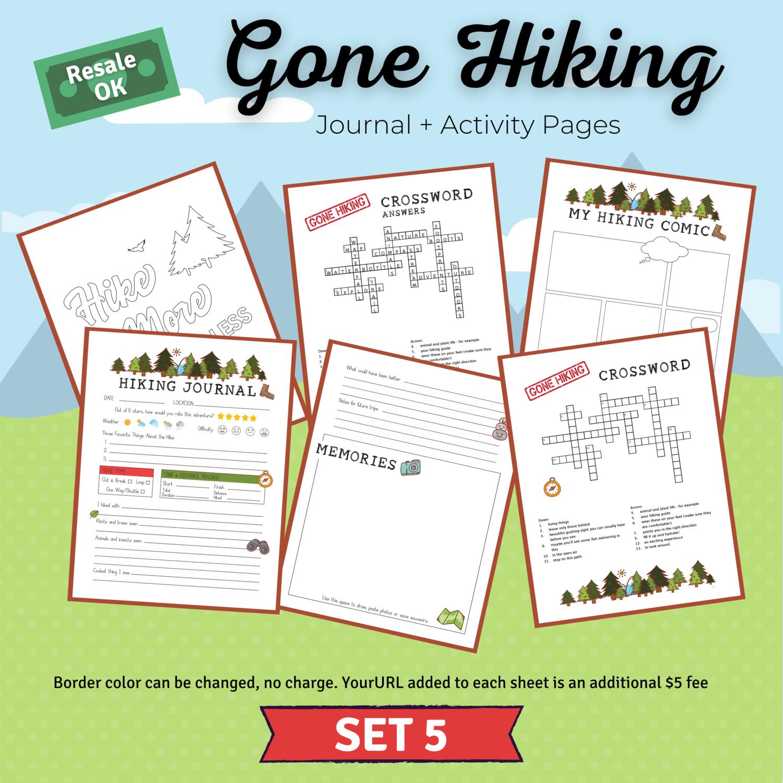 Hiking Journal & Activity Bundle Set 5 for Dannelle