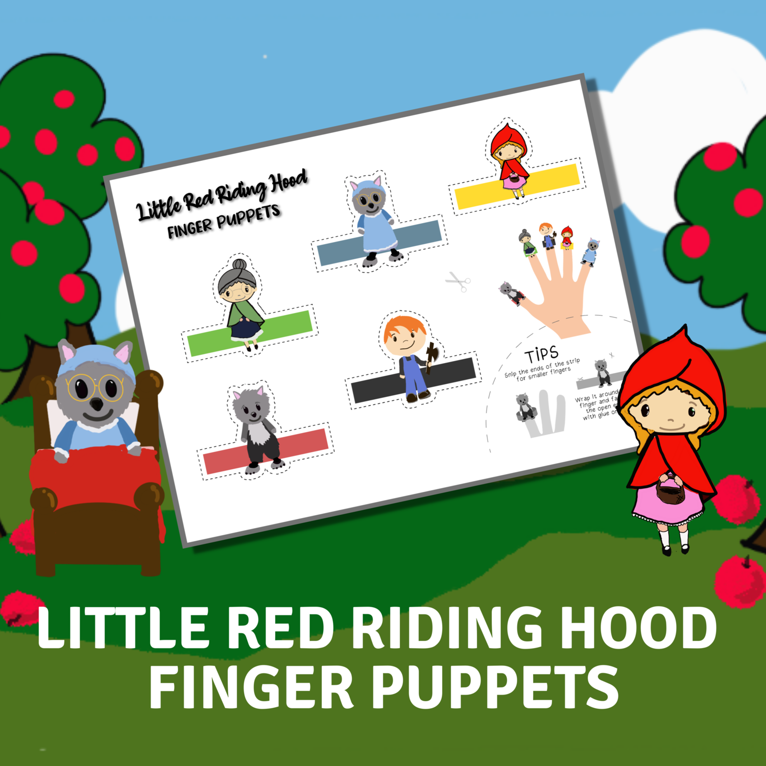 Little Red Riding Hood Finger Puppets for Corinne