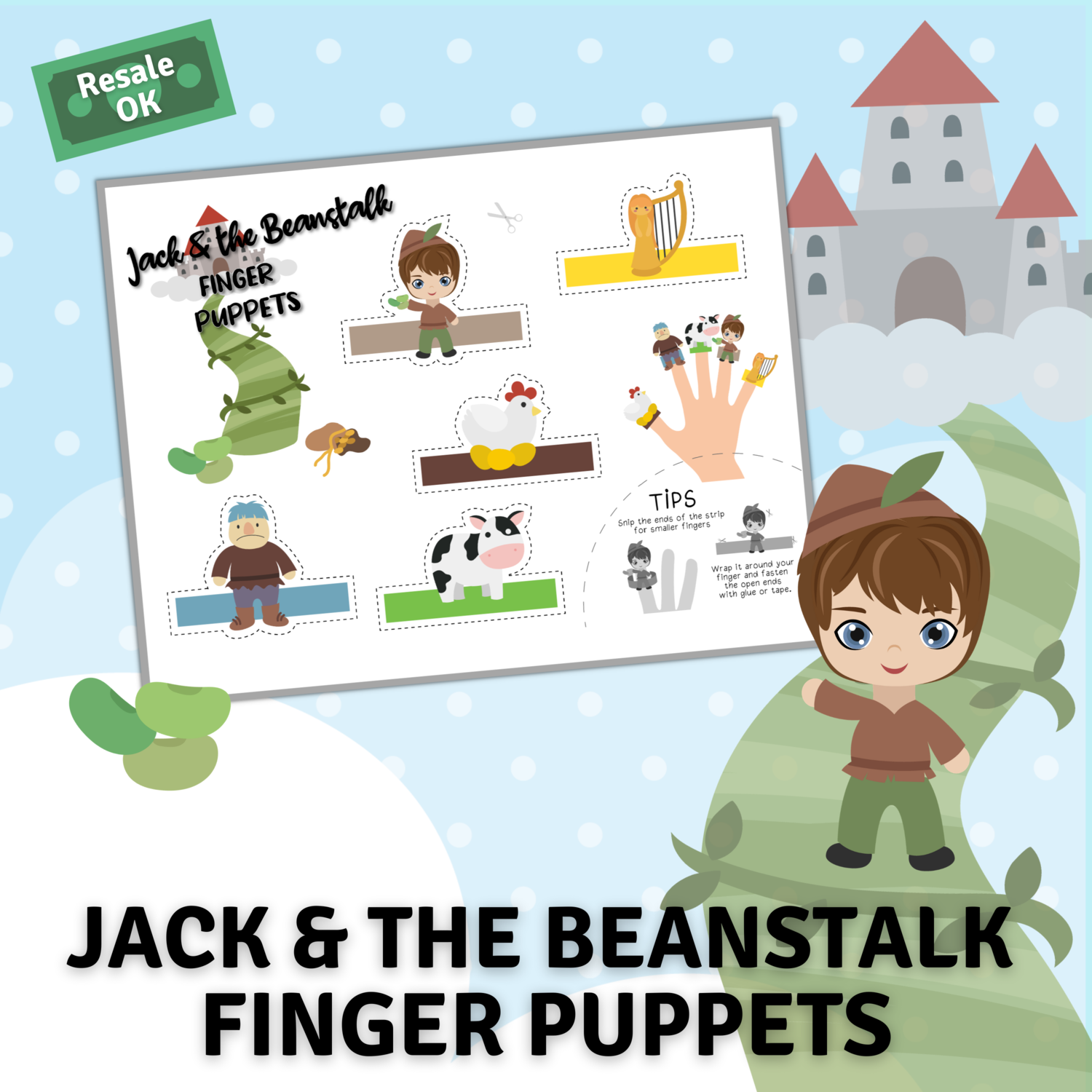 Jack and the Beanstalk Finger Puppets for Corinne