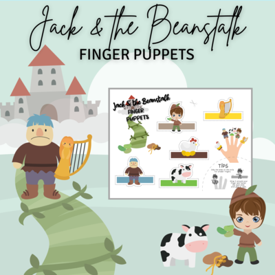 Free Printable Finger Puppets - Jack and the Beanstalk