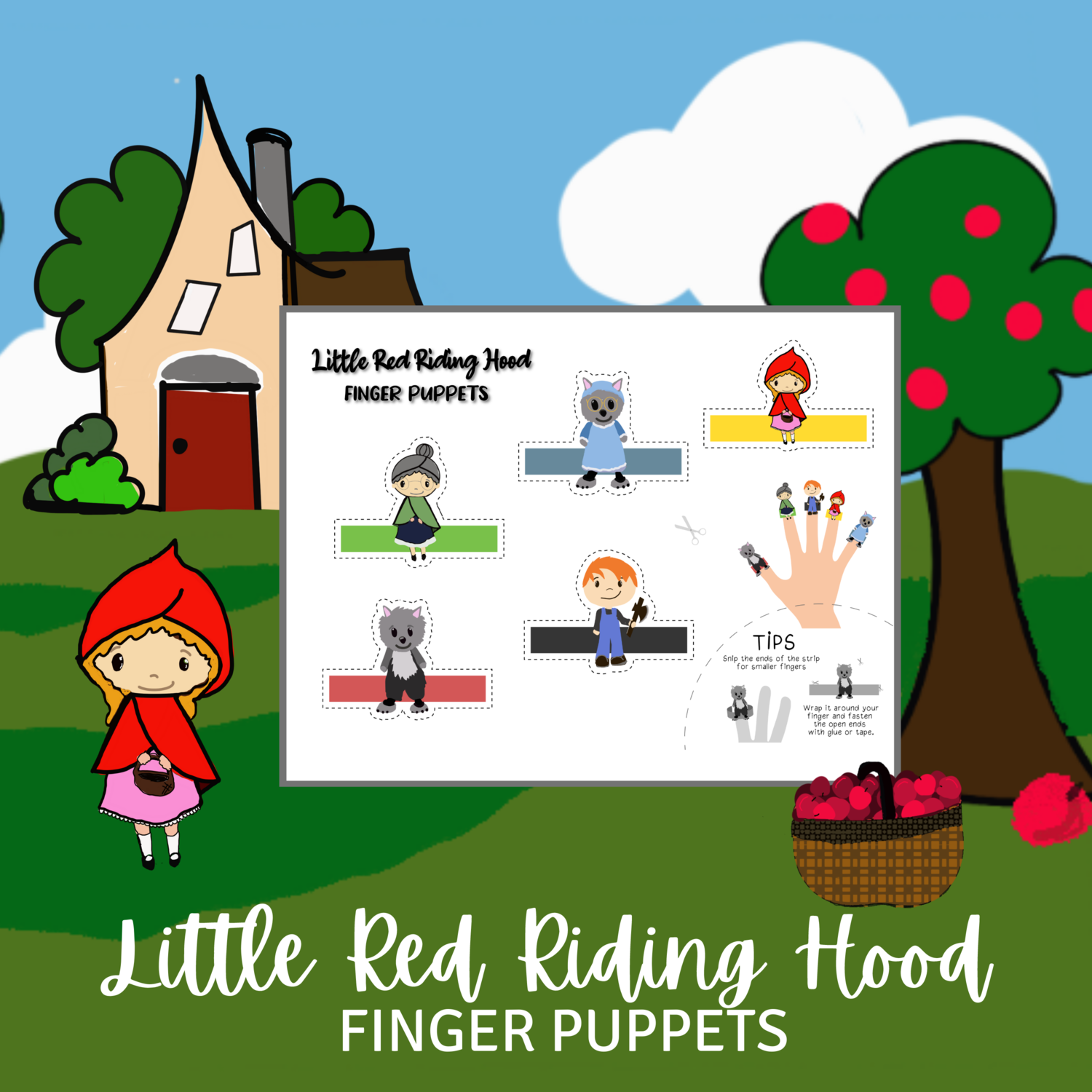 Free Printable Finger Puppets - Little Red Riding Hood