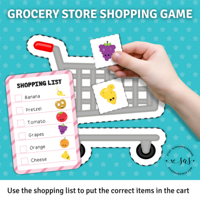 Grocery Store Shopping Game | Toddler Busy Book Activity