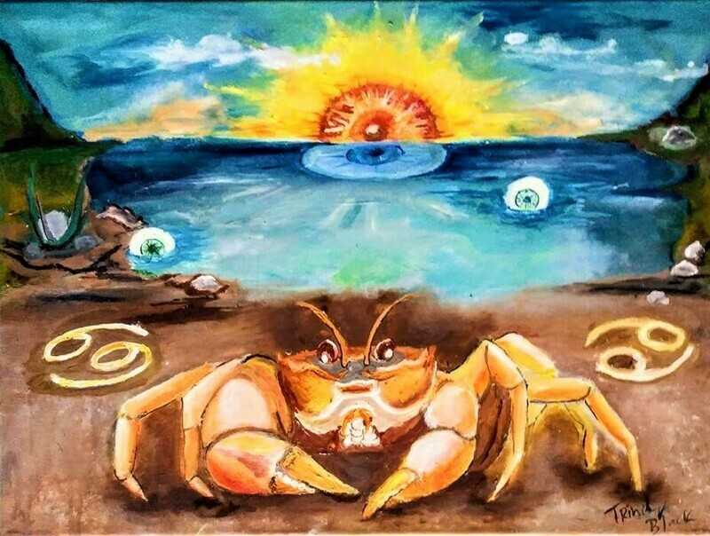 Crab of illusions (Cancer) PRINT 11 by 14