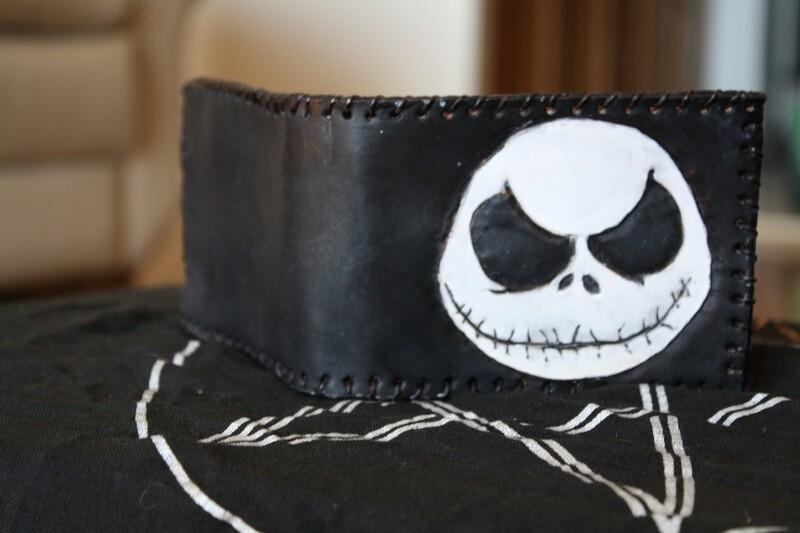 Jack Skellington Handmade Leather Wallet
