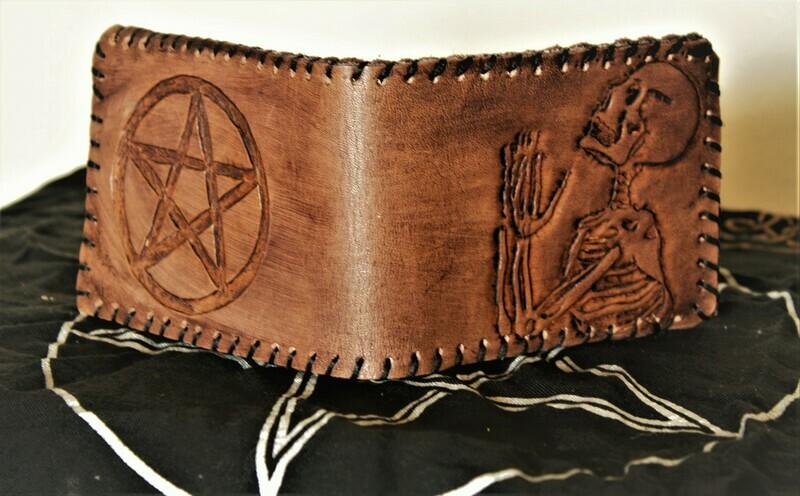 Hand made leather Skeleton Wallet