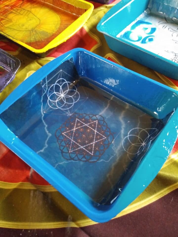 Sacred Geometry Rolling Tray