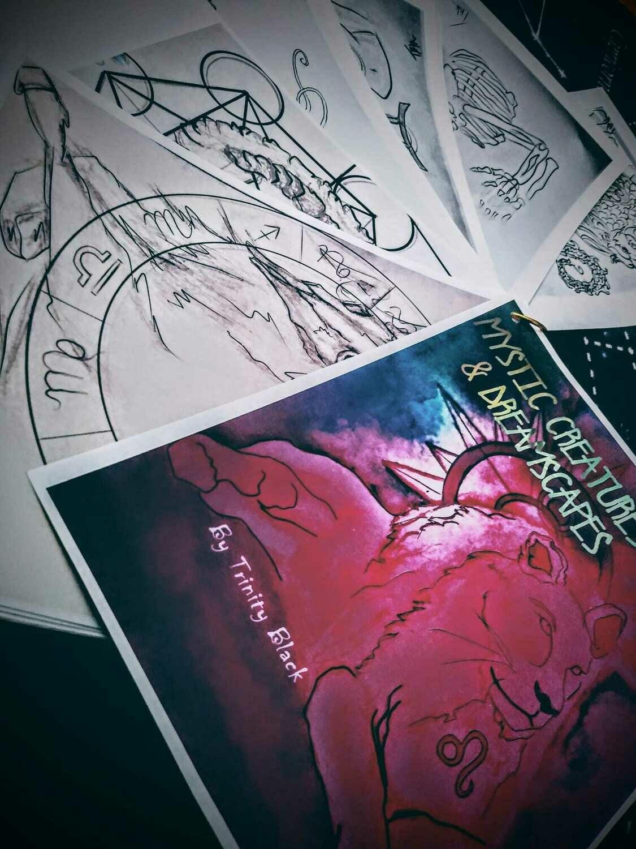 Mystic Creatures and Dreamscapes coloring book