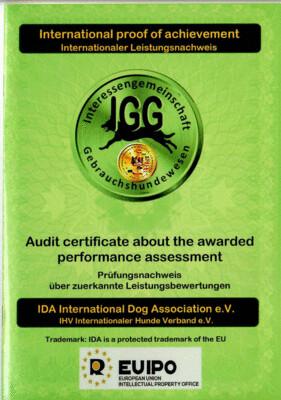 Leistungsnachweis der IDA International Dog Association für Ihren Hund 28 Seiten IDA
