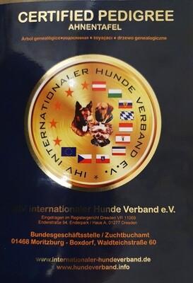 Ahnentafel des IHV - nur über die Bundesgeschäftsstelle bestellbar