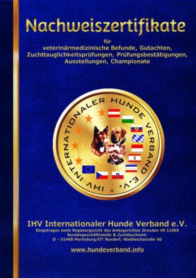 Nachweiszertifikate des IHV DIN A 5 20 Seiten kaschiert