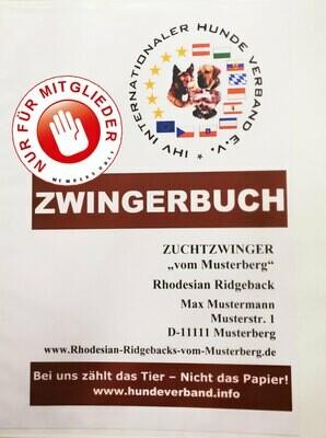 Zwingerbuch des IHV (Preisangabe NUR für Mitglieder zzgl. Versanskosten)