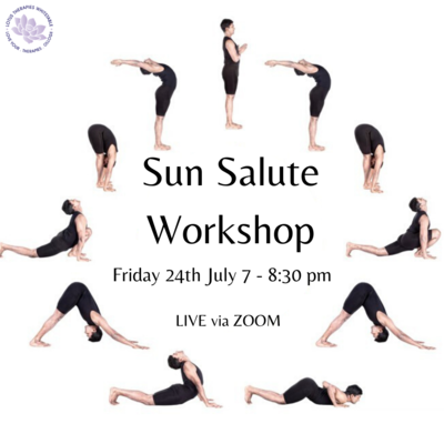 Sun Salute Workshop - Friday 24th July - 7:00pm-8:30pm