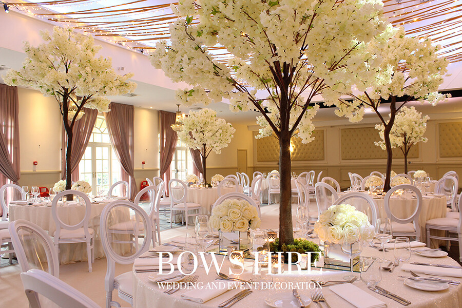 180cm Ivory Blossom Cherry Tree