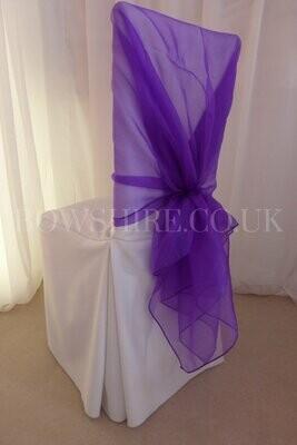 Purple Organza Wrap