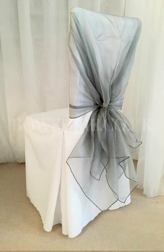 Silver Organza Wrap