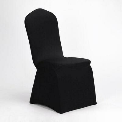 Black Lycra Stretch Chair Cover & Organza Sash