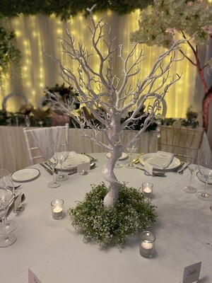 70cm White Crystal Tree
