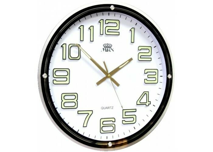 80486 Часы настенные MIRRON P2769BM ЧБ