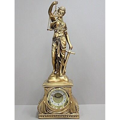 43229 Часы настольные La Minor Фемида  5238 статуэтка